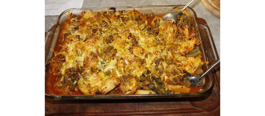 Bohnen-Kartoffel-Auflauf