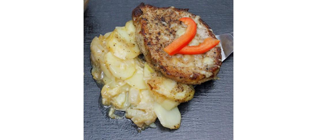 Kotelett-Kartoffel-Auflauf