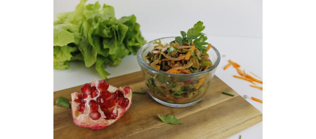 lauwarmer Fenchel-Apfel-Endivien-Salat